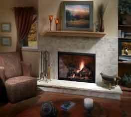 Icon 60 modelos de chimeneas americanas de gas y lena con - Chimeneas decorativas precios ...